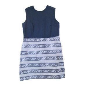 plus size vintage blue stripe dress 14